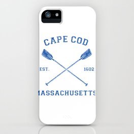 Womens Vintage Cape Cod Vacation V-Neck Gift iPhone Case
