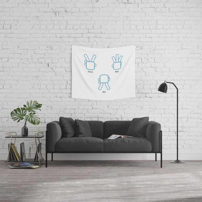 Peace Not War Wall Tapestry
