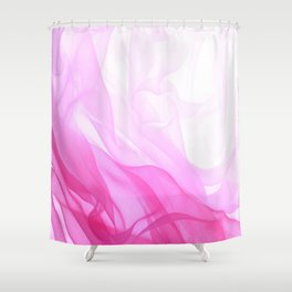 Pink Tulle Shower Curtain