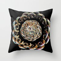 hook Throw Pillows featuring Hook Rings by Brian Raggatt