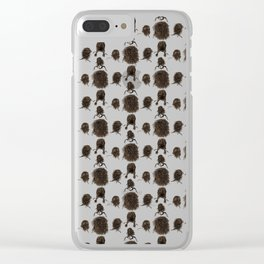 Messy dry curly hair pattern Clear iPhone Case