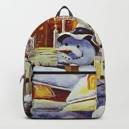 Father & Son Snowman Backpack