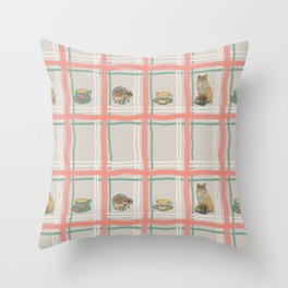 The Fox and The Hedgehog #1 Throw Pillow