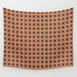 Barcelona tile red octagonal pattern Wall Tapestry