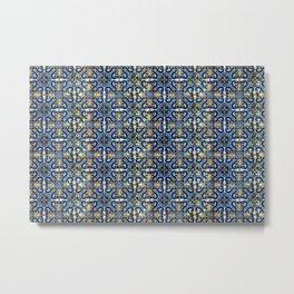 Blue, Yellow and Orange Portuguese Tile  Metal Print