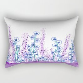 Astract Water Flowers Rectangular Pillow