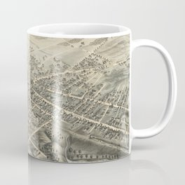 Vintage Pictorial Map of Natick MA (1877) Coffee Mug