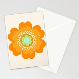 Jivin' - 70's retro throwback art floral flower motif decor hipster Stationery Cards
