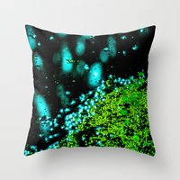 lily Throw Pillows featuring Lily  by Faded  Photos