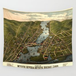 Map Of Mystic 1879 Wall Tapestry