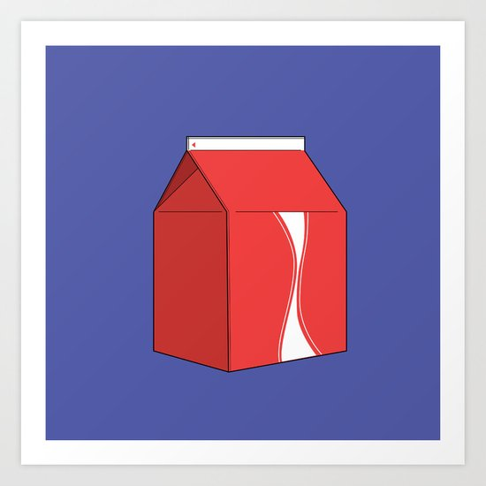 Coke in a box Art Print