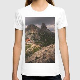 Tre Cime di Lavaredo three peaks of Lavaredo Dolomites mountain landscape rocks Italy T-shirt