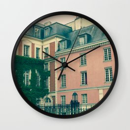 Paris Pink House Wall Clock