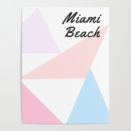 Miami Beach - Geometric Design Poster