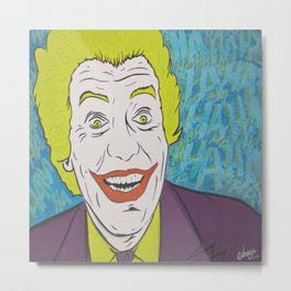 Vintage Joker Spray Painting Metal Print