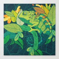 chameleon Canvas Prints featuring Chameleon by Arcturus