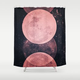 Pink Moon Phases Shower Curtain