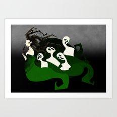 Hel the Goddess of Death Art Print