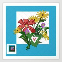 Wildflower Bouquet Quilt Art Print
