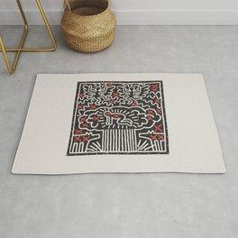 Keith Art, Exhibition Poster, Japan Vintage Print Rug