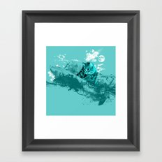 SURF DAY Framed Art Print