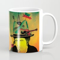 dylan Mugs featuring dylan by Mariana Beldi
