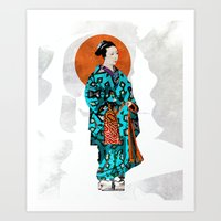 geisha Art Prints featuring Geisha by Steve W Schwartz Art