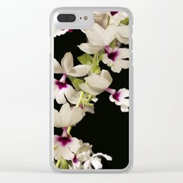 Calanthe rosea Orchid Clear iPhone Case