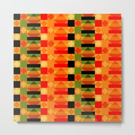 African Style Kente Cloth Metal Print