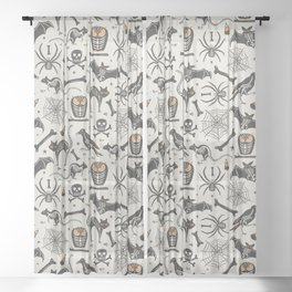 Halloween X-Ray Sheer Curtain