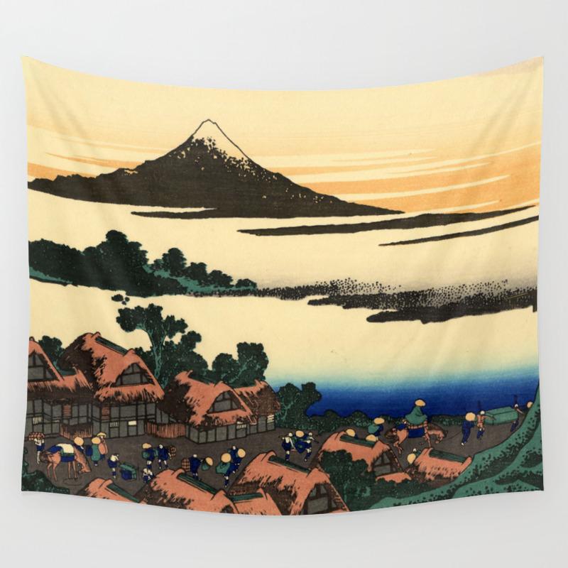 Hokusai 1760 1849 Dawn At Isawa In Kai Province Wall Tapestry By Alexandra Arts Society6