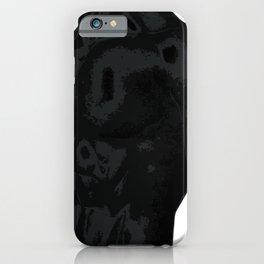 Illustration of bodybuilder silhouette black on white background iPhone Case