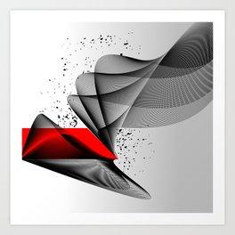 crimson & wire #001 Art Print