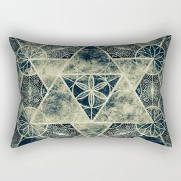 Sacred Geometry for your daily life -  Platonic Solids - IGNIS Rectangular Pillow