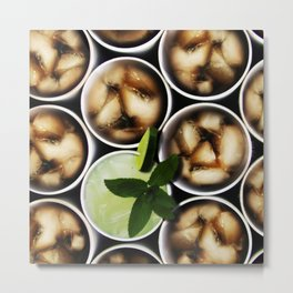 One Fancy Drink - One Mint Julep and Among Cola Metal Print