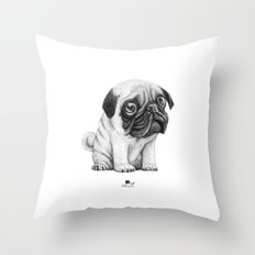 Pug Pug 01 Throw Pillow