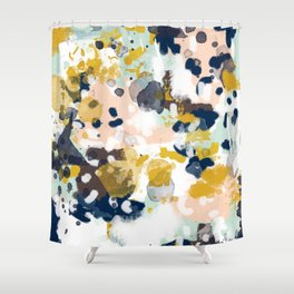 Sloane - abstract painting gender neutral baby nursery dorm college decor Shower Curtain