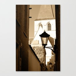 A shortcut to church Canvas Print