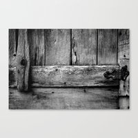 wooden Canvas Prints featuring wooden by Bonnie Jakobsen-Martin