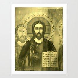 Pop Jesus (RGB) Art Print