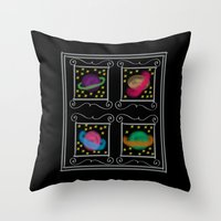 planets Throw Pillows featuring Planets by Art Stuff