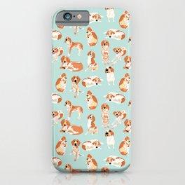 Redtick Coonhound on Light Blue iPhone Case