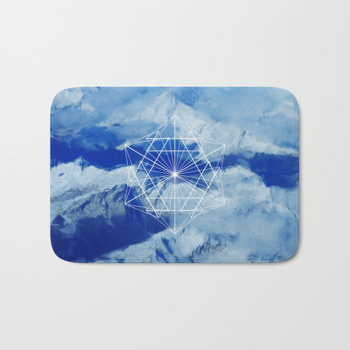 Mountains, Clouds and Geometry Bath Mat
