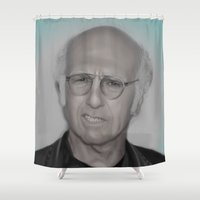 larry Shower Curtains featuring Larry by Alexia Rose