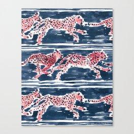 Navy SPEEDY CHEETAHS Canvas Print