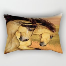 HORSES - The Buckskins Rectangular Pillow