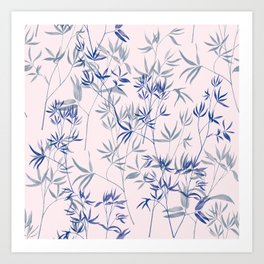exotic blue Art Print