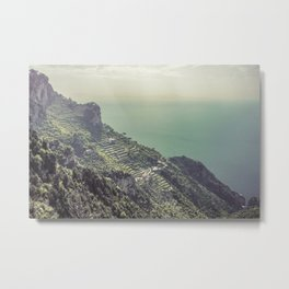 Terrace farm on the Amalfi coast in Italy Metal Print