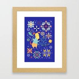 Happy Dog Year Framed Art Print