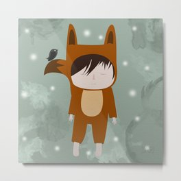 Foxie Boy Metal Print